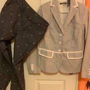 Liz Claiborne Seersucker Suit